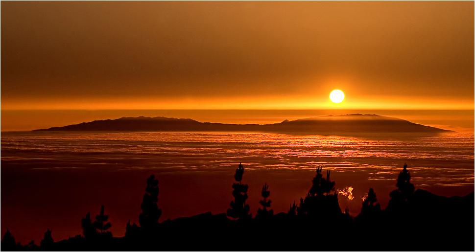 """Es gibt auch """"kitschige"""" Sonnenuntergänge auf Teneriffa, - aber schön sind sie doch! (2)"""
