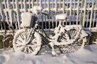 Es hat geschneit - wo ist mein Fahrrad?