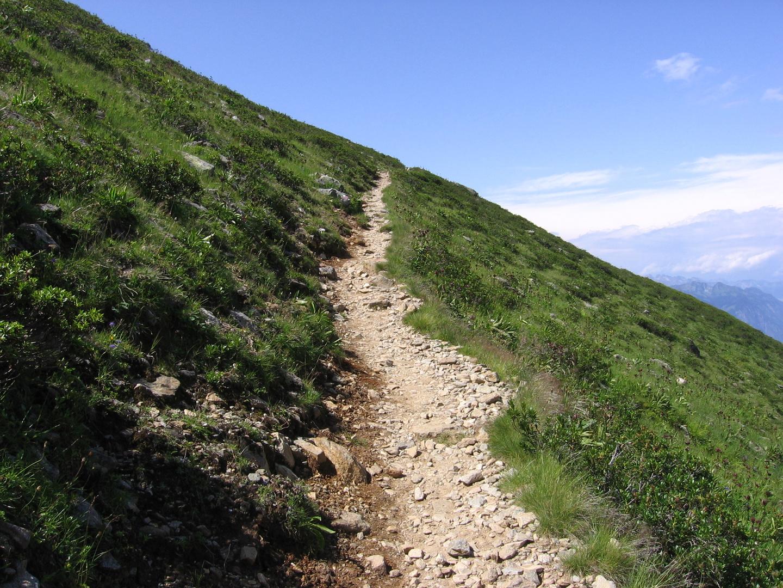 es hört nicht auf, der Weg zur Kaltenberg-Hütte