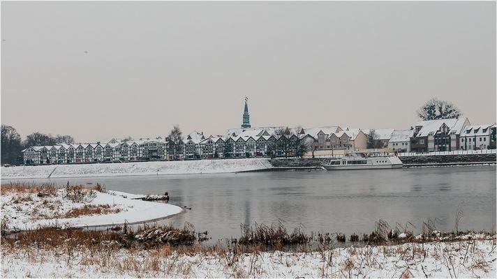 Es ist Winter geworden in Schönebeck an der Elbe