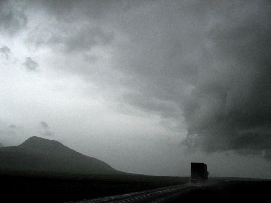 Es regnet auch mal auf Island