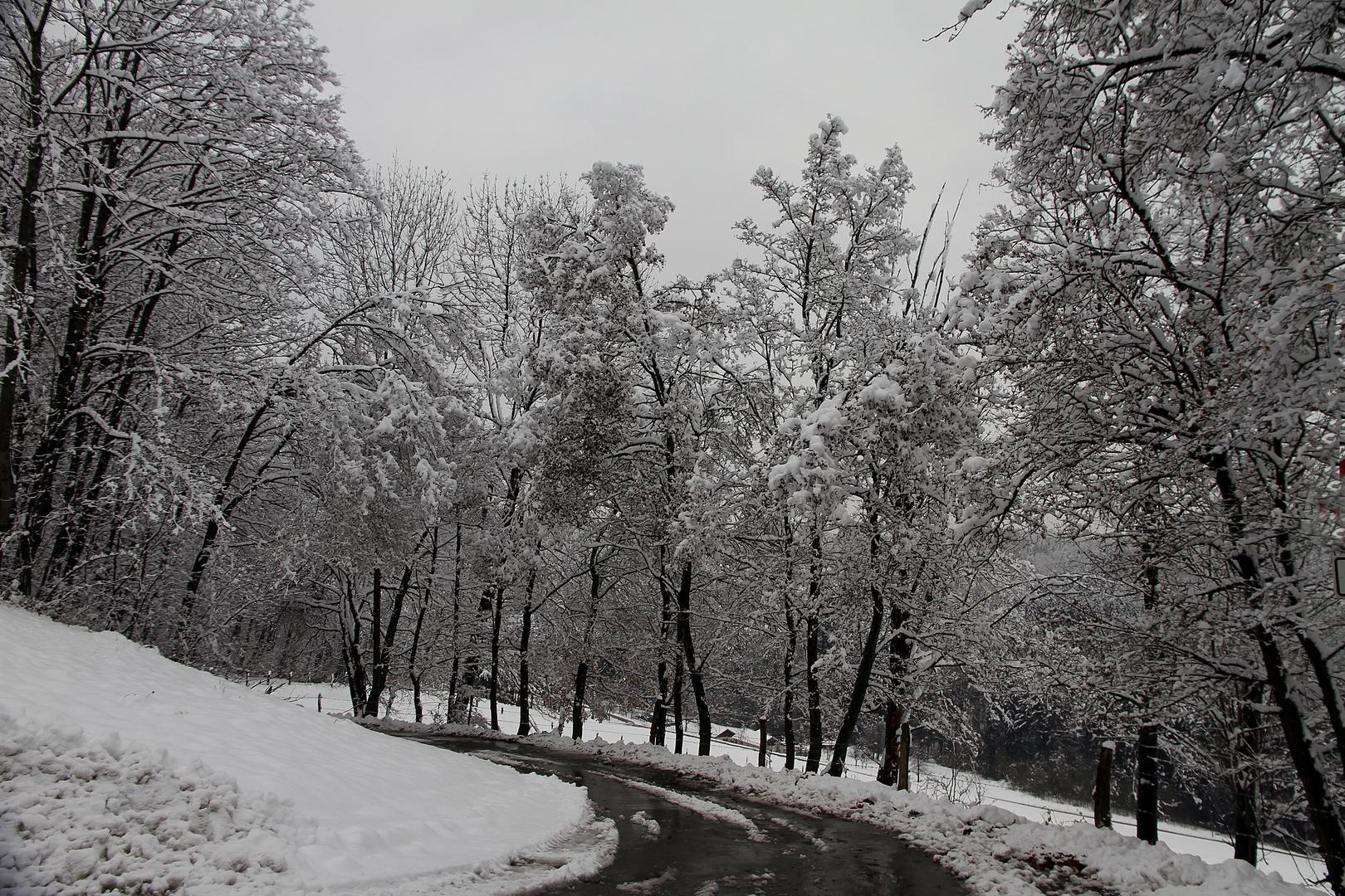 es schneite heute