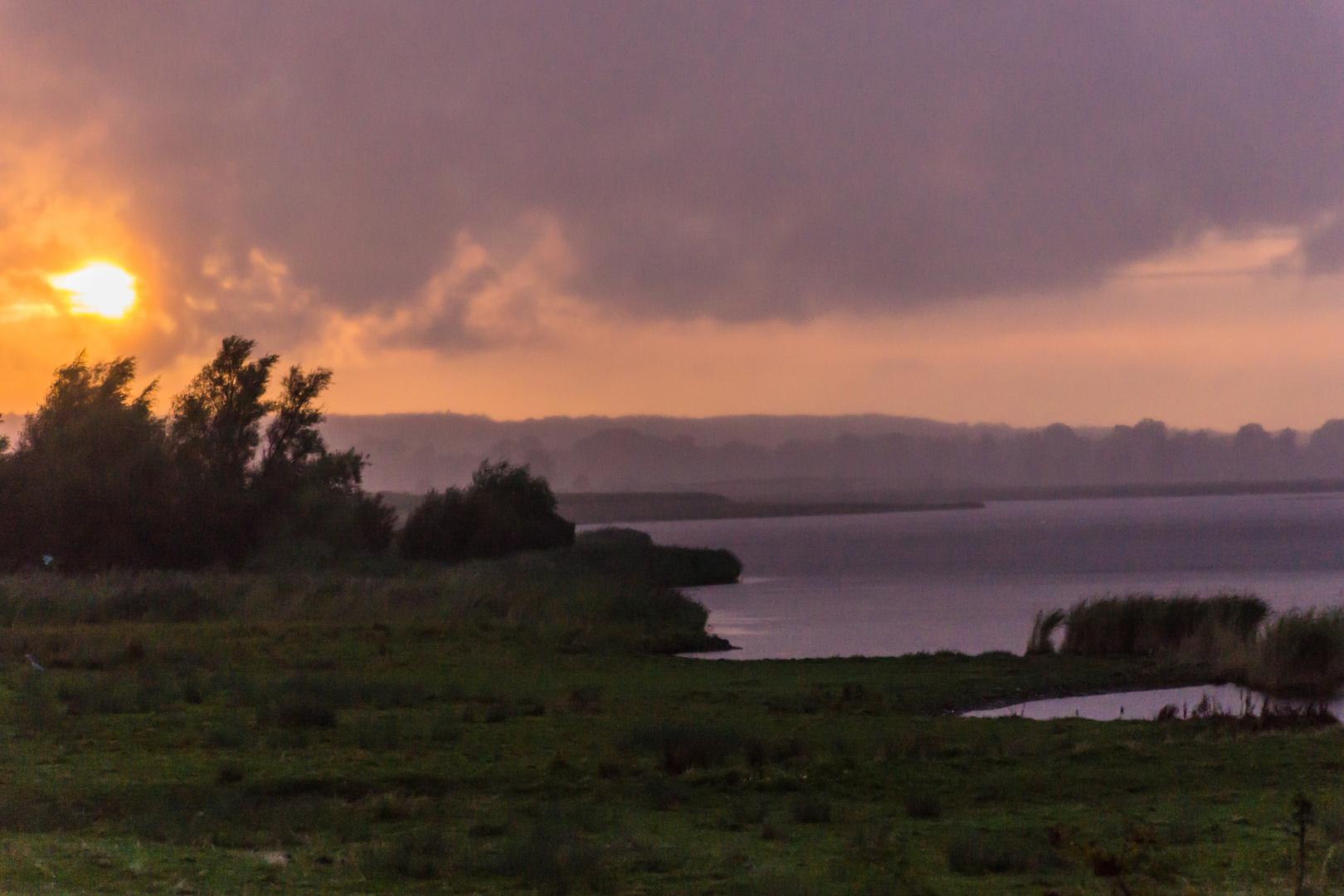 es wird Abend in der Hohwachter Bucht  - Ostsee