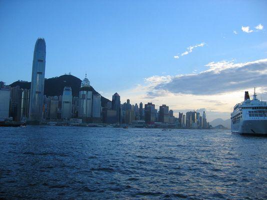 Es wird Abend in Hongkong...