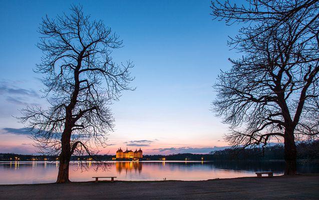 Es wird Nacht am Schloss Moritzburg