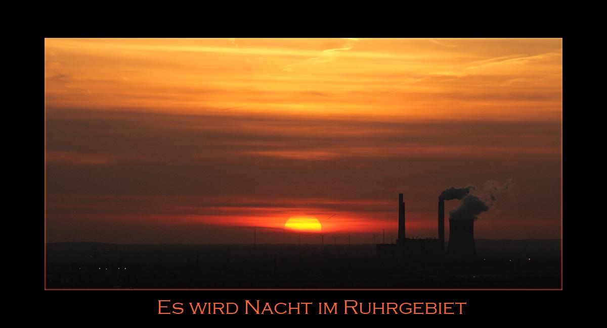 Es wird Nacht im Ruhrgebiet