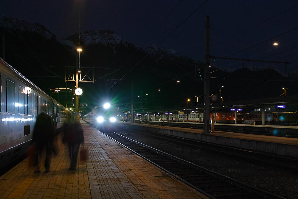 Es wird Nacht in Innsbruck