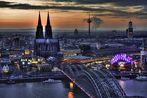 es wird Nacht in Köln...