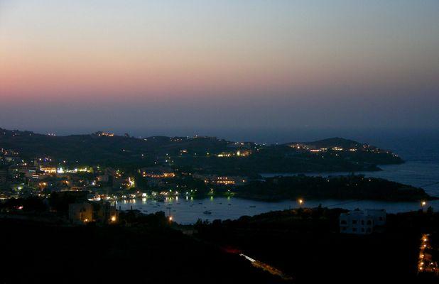Es wird Nacht über Kreta....