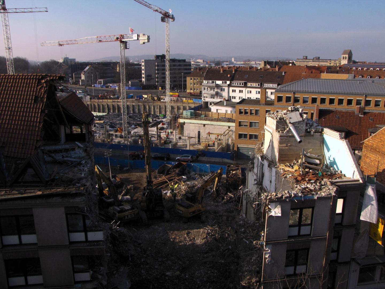 Es wird wieder abgerissen in Hildesheim