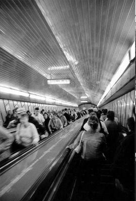 escalator to the underground