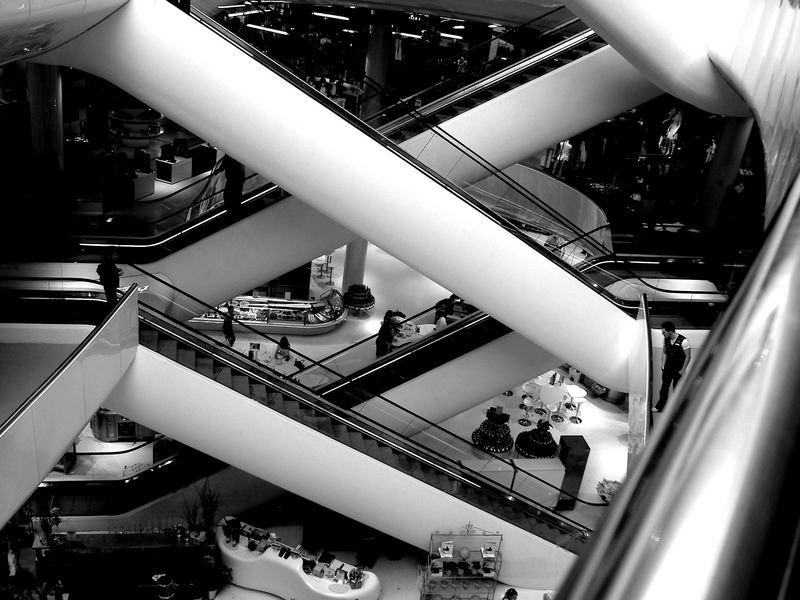 Escalators in Selfridges Birmingham