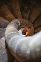 Escalera bajada campanario Concatedral de Cáceres Santa Maria la Mayor (Extremadura España)
