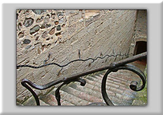 Escaleras en el Monasterio de Poblet