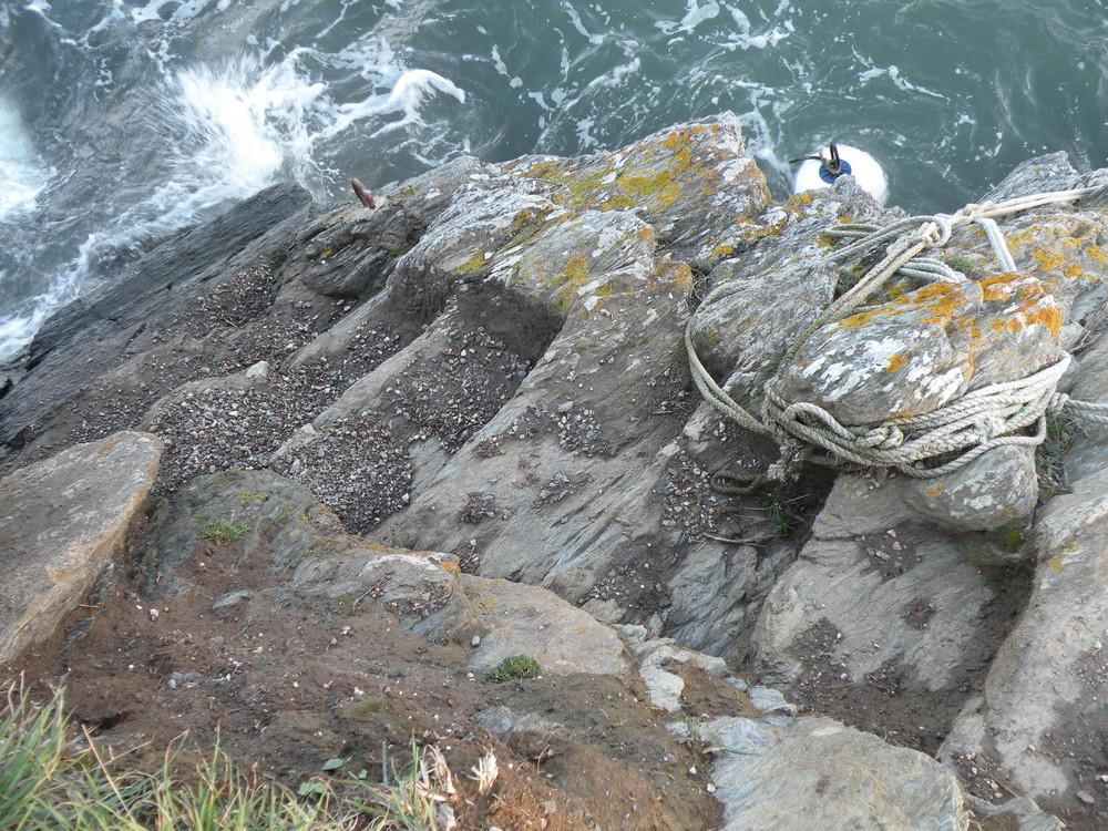 Escalier dans la roche. Belle Ile