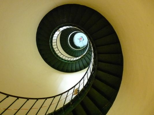 Escalier du phare Contis (Landes)