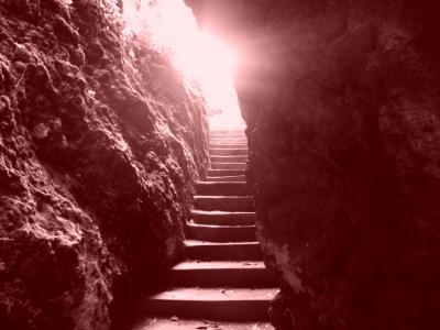 escalier lumineu naturellement