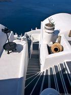 Escalier typique de Santorin