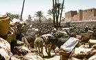 Eselparkplatz in Rissani, Marokko 1972