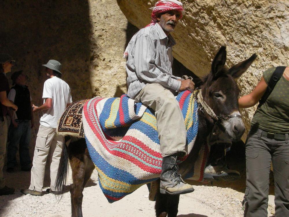 Eselreiter bei Maaloula (Syrien)