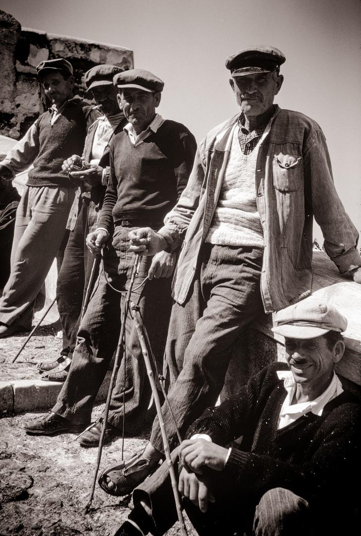 Eseltreiber auf Santorin
