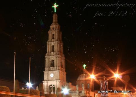 Espectaculo de pirotecnia en honor a san Julian obispo