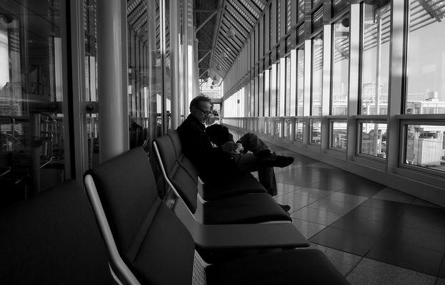 Esperando. Aeropuertos