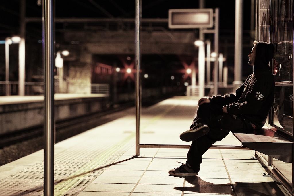 Esperando el tren 2