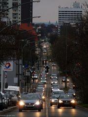 Essen, Alfredstrasse -  Blick nach Norden