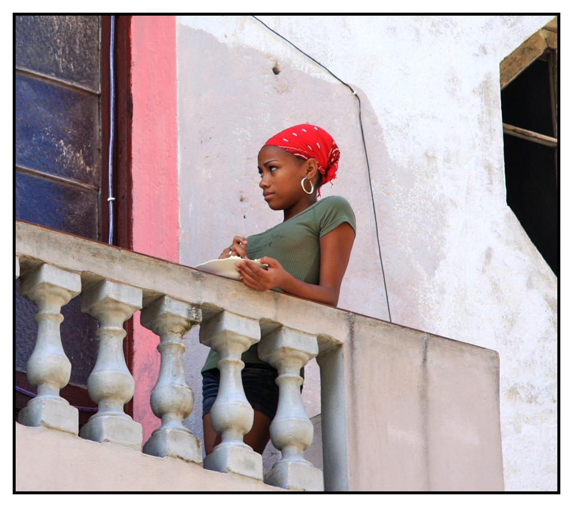 ... Essen auf dem Balkon ...