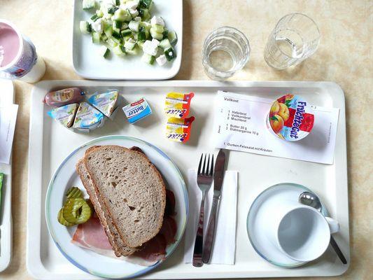 Essen im Krankenhaus
