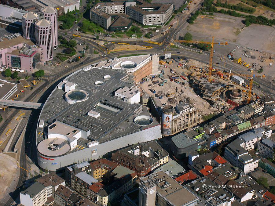 Essen, Neubau des Einkaufszentrums und Abriss des historischen Karstadt Hauses