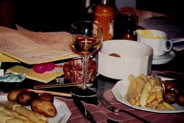 Essen und Trinken und Schreiben