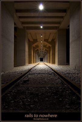 Essen: Zeche Zollverein - rails to nowhere