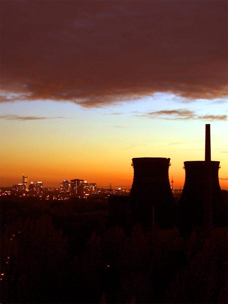 Essens Skyline von der Kokerei Zollverein