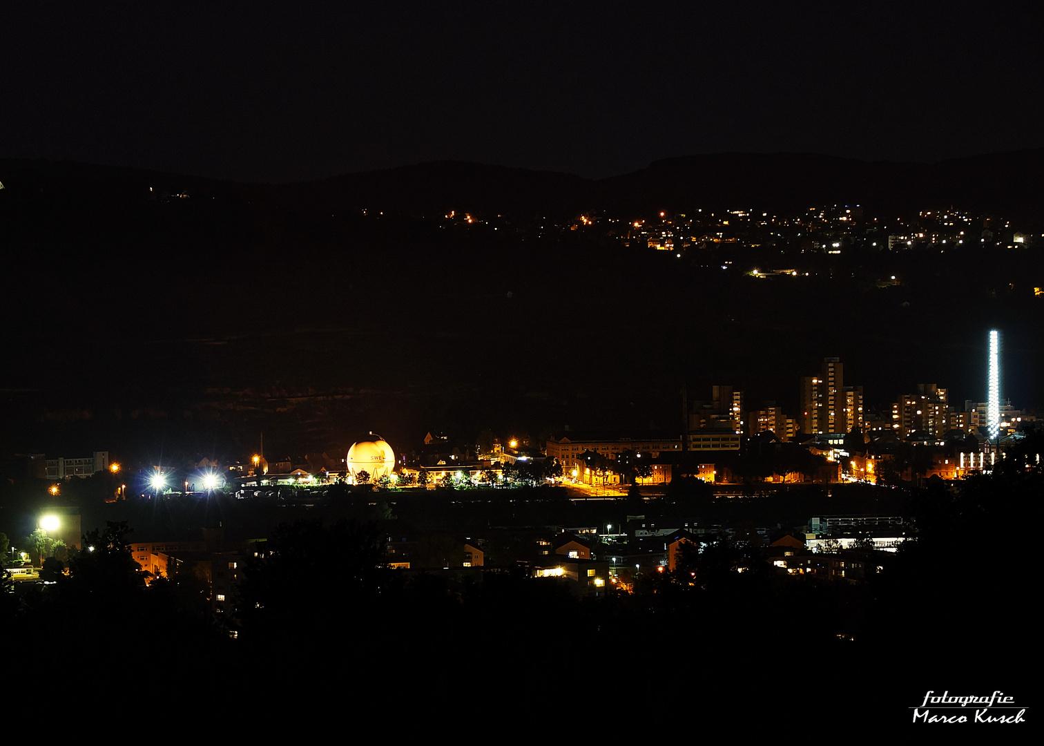 Esslingen Neckar bei Nacht