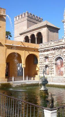 Estanque en los jardines del Alcázar
