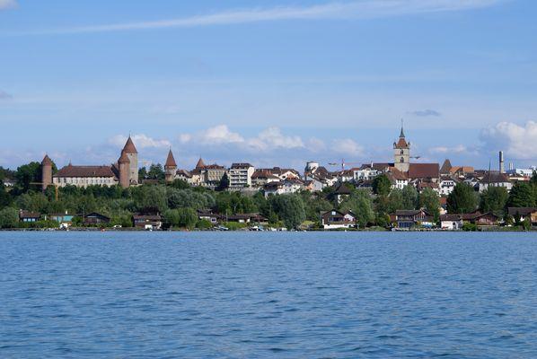 Estavayer-le-Lac (CH), lac de Neuchâtel, pied du Jura