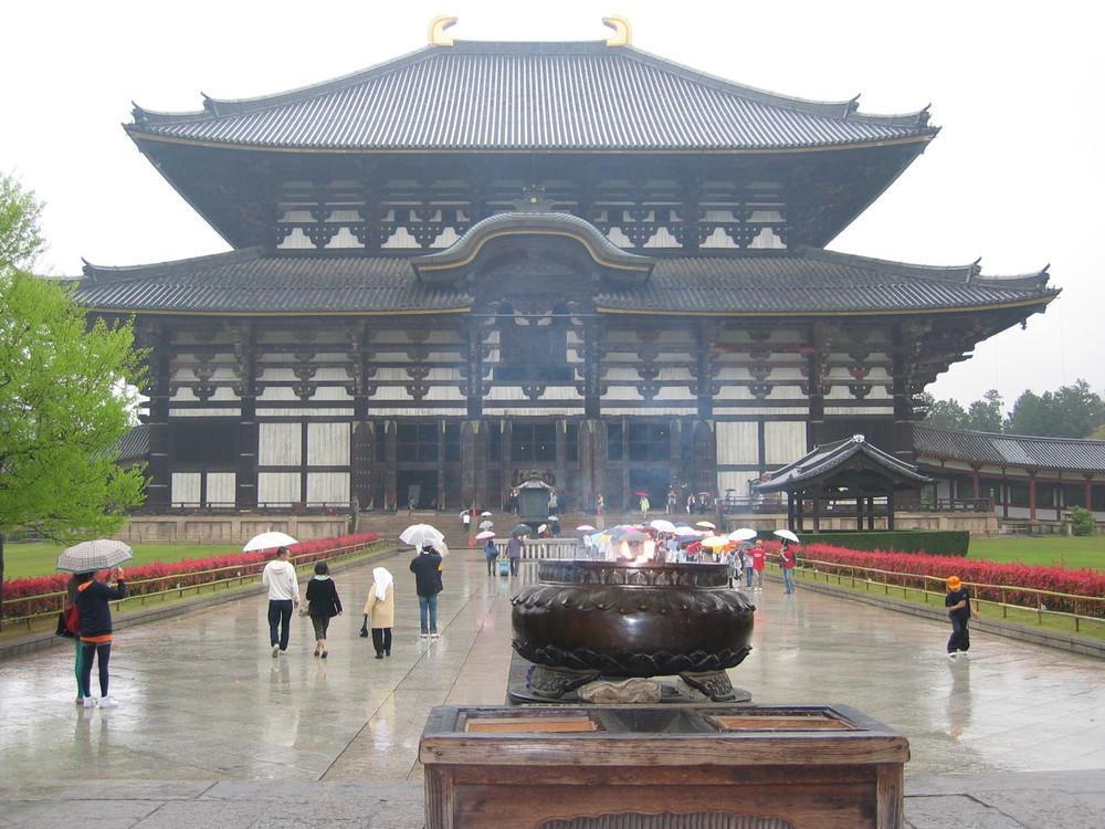 Esterno tempio Buddista a Nara Giappone