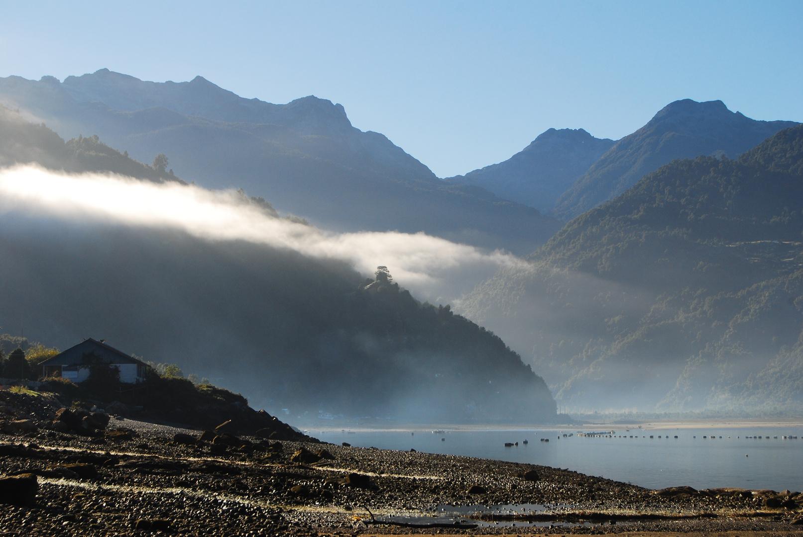 Estuario de Reloncavi, Patagonien, Chile
