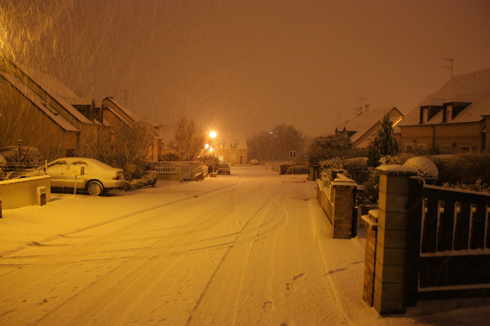Et Neige tombant le soir