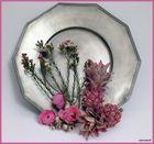 Etain fleuri / Zinn mit Blumen
