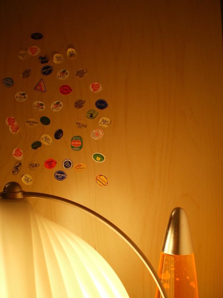 etiquettes de pommes