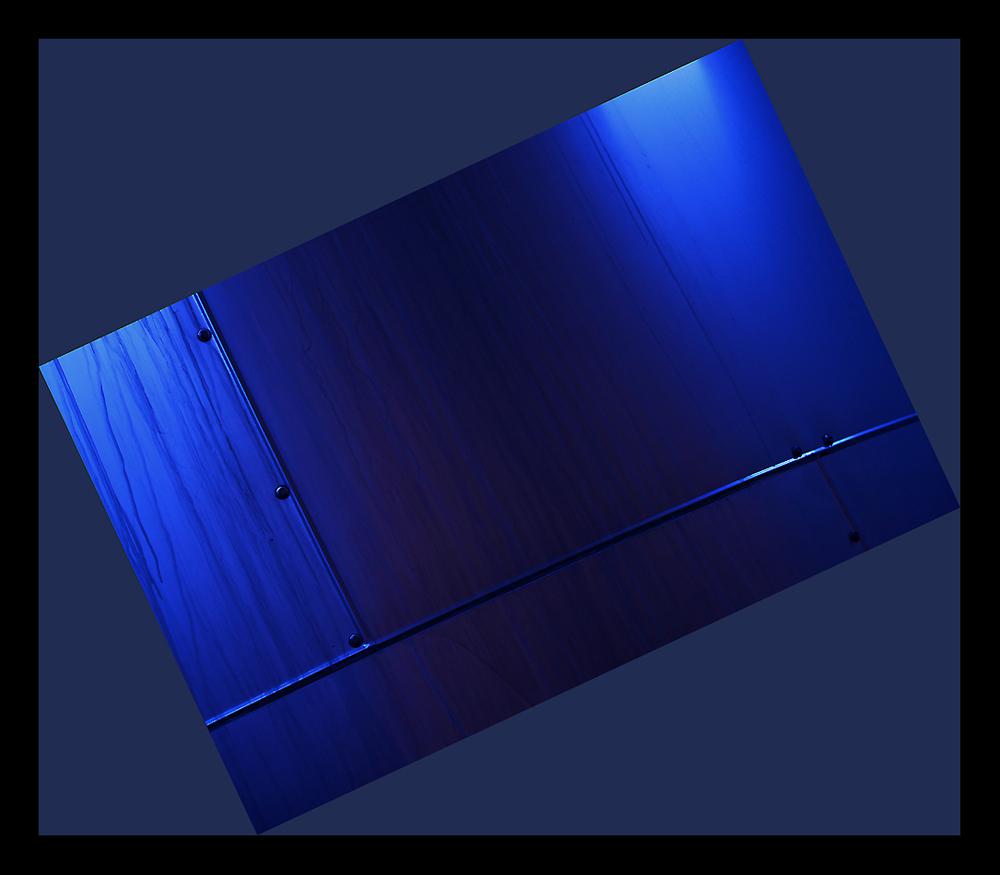 étude en bleu