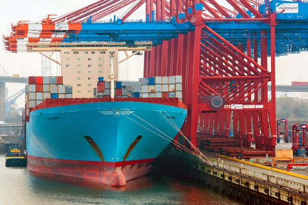 Eugen Maersk in Hamburg