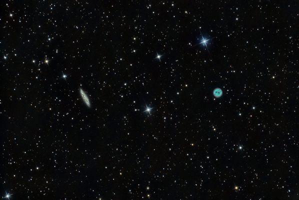 Eulennebel M97 und Galaxie M108