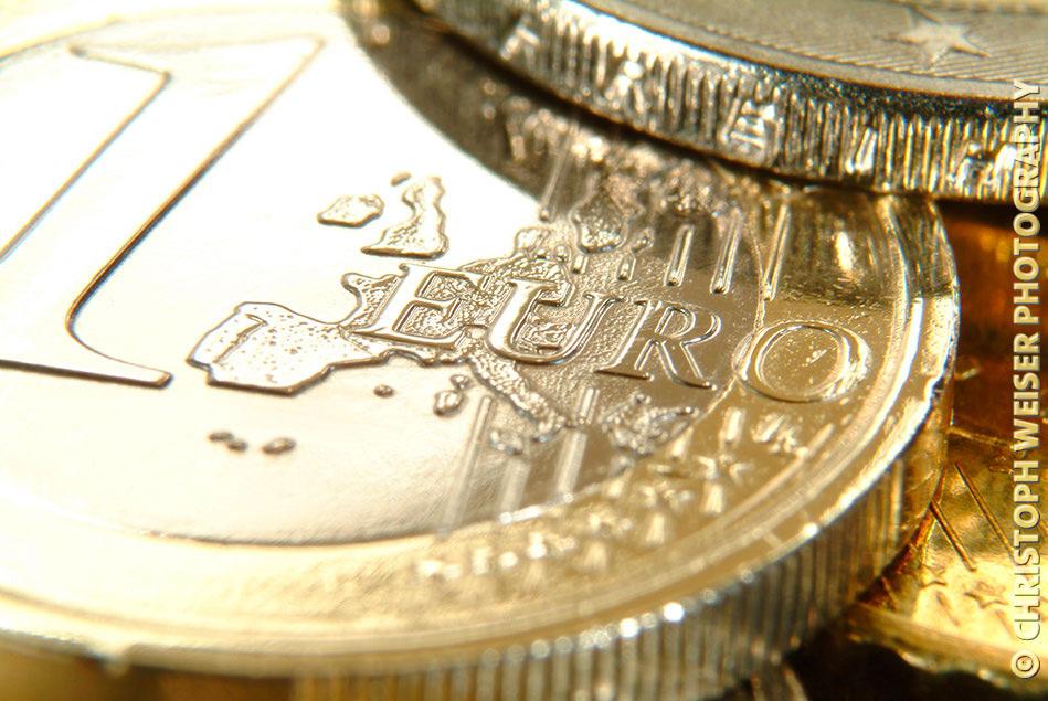 Euro-Münzen, close up