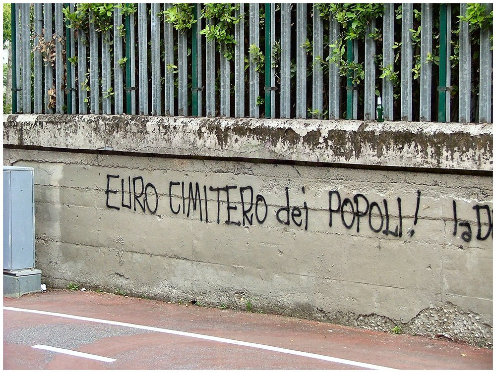 Euro  the graveyard of people ...This is Roma too!!