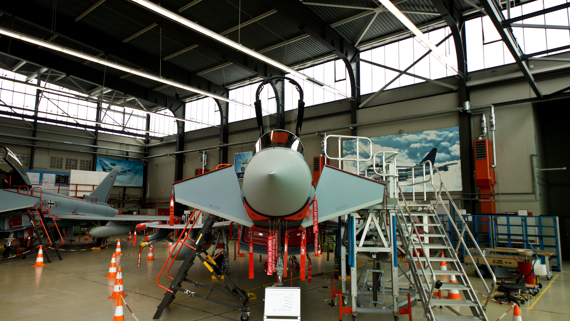 Eurofighter bei Cassidian in Manching
