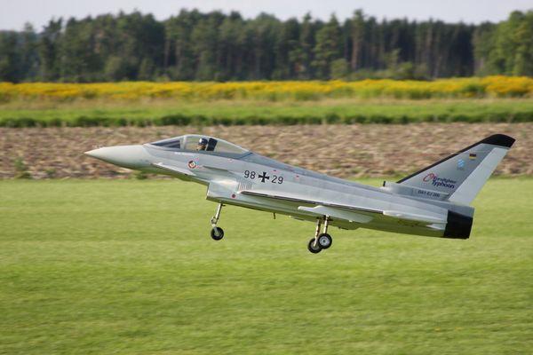 Eurofighter im Landeanflug